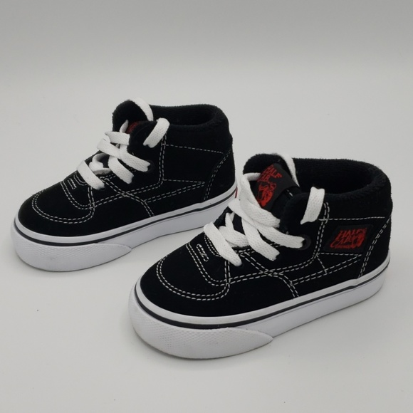 Vans Other - Vans Half Cab Blk Red TODDLER Size 4